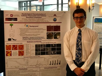 REU student George Funk completed his summer research program with a poster and presentation